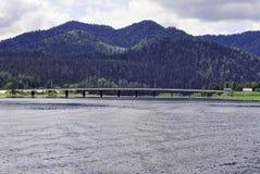 Ansicht vom Wasserstand zum Teletskoye See Lizenzfreie Stockfotografie