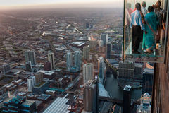 Ansicht vom Willis Kontrollturm Lizenzfreies Stockbild