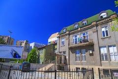 Ansicht vom zentralen Bezirk von Skopje, Mazedonien Lizenzfreie Stockbilder