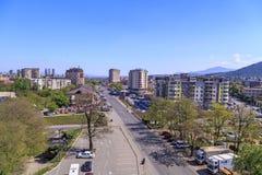 Ansicht vom zentralen Bezirk von Skopje, Mazedonien Lizenzfreies Stockbild