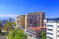 Ansicht vom zentralen Bezirk von Skopje, Mazedonien Stockfoto