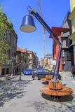 Ansicht vom zentralen Bezirk von Skopje, Mazedonien Lizenzfreie Stockfotografie