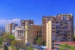 Ansicht vom zentralen Bezirk von Skopje, Mazedonien Lizenzfreie Stockfotos