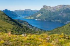 Ansicht von Ørsta, Norwegen Lizenzfreies Stockbild