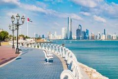 Ansicht von Abu Dhabi Stockbild