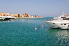 Jachthafen. EL Gouna, Ägypten Stockfotos