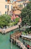 Ansicht von Accademia-Brücke in Venedig, Italien Stockfotos