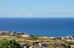 Ansicht von Achada-Sao Filipe Stockfotografie