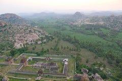 Ansicht von Achyutaraya-Tempel, Hampi, Indien Stockbild