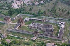 Ansicht von Achyutaraya-Tempel, Hampi, Indien Stockbilder