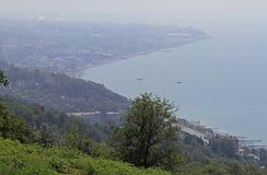 Ansicht von Adler-Bezirk im größeren Sochi vom Berg Stockbilder
