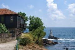 Ansicht von Ahtopol, Bulgarien Lizenzfreies Stockfoto