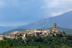 Ansicht von Ainsa, Pyrennes, Huesca Stockbild