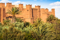 Ansicht von Ait Benhaddou Kasbah, Ait Ben Haddou, Ouarzazate, Morocc Lizenzfreie Stockfotografie