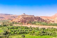 Ansicht von Ait Benhaddou Kasbah, Ait Ben Haddou, Ouarzazate, Marokko Stockfotografie