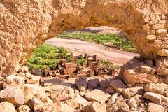 Ansicht von Ait Benhaddou Kasbah, Ait Ben Haddou, Ouarzazate, Marokko Stockfoto