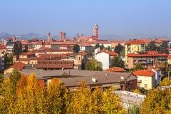 Ansicht von alba im Herbst Stockfoto