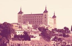 Ansicht von Alcazar von Toledo in der sonnigen Zeit Stockfotografie