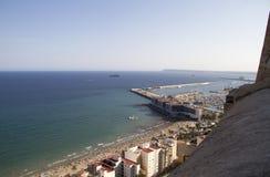 Ansicht von Alicante-Schloss stockfotos