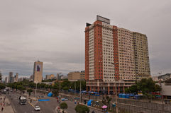 Ansicht von Allee Avenida Presidente Vargas in Rio de Janeiro während des Karnevals lizenzfreies stockfoto