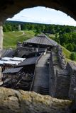 Ansicht von altem Rakvere-Schloss Stockfotos