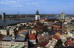 Ansicht von altem Riga Lizenzfreies Stockfoto