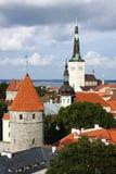 Ansicht von altem Tallinn, Estland Stockbilder