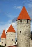 Ansicht von altem Tallinn, Estland Stockbild