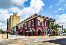 Ansicht von alten Backsteinhäusern in Eastpoint, USA Lizenzfreies Stockfoto