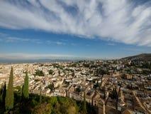 Ansicht von alten Stadtdächern Granadas Stockfoto