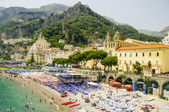 Ansicht von Amalfi Lizenzfreies Stockbild