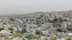 Ansicht von Amman von der alten Zitadelle lizenzfreies stockbild