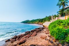 Ansicht von Anjuna-Strand Stockfoto
