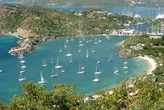 Ansicht von Antigua Stockfoto