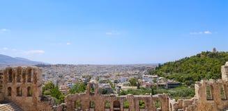 Ansicht von Athen Lizenzfreie Stockfotos