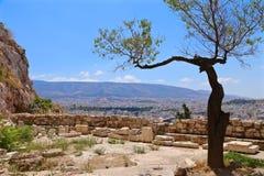 Ansicht von Athen Lizenzfreie Stockbilder