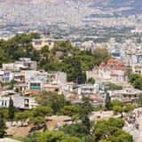 Ansicht von Athen Stockfotos