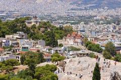 Ansicht von Athen Stockfotografie