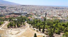 Ansicht von Athen Stockbilder