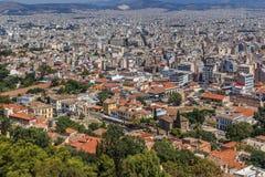 Ansicht von Athen von der Akropolise Lizenzfreie Stockfotografie