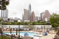 Ansicht von Austin Downtown Skyline stockfoto
