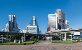 Ansicht von Bürogebäuden Stockfotos