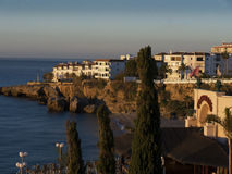 Ansicht von Balcon de Europa in Nerja Andalusien Spanien Lizenzfreie Stockbilder