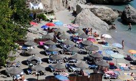 Ansicht von Balcon de Europa in Nerja, Spanien Lizenzfreies Stockfoto