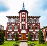 Ansicht von balneary in Svetlogorsk, Russland Alte deutsche Tradition in ehemaligem Namen Raushen der Stadt Stockfotos