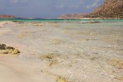 Ansicht von Balos-Bucht in Kreta, Griechenland Lizenzfreie Stockfotos