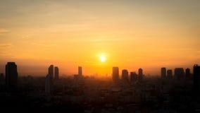 Ansicht von Bangkok-Stadt morgens lizenzfreies stockfoto