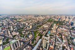 Ansicht von Bangkok vom Wolkenkratzer Stockfotografie