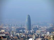 Ansicht von Barcelona von Monjuik Stockfotos