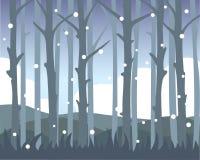 Ansicht von Baum-Stämmen lizenzfreie abbildung